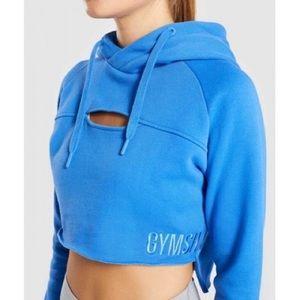 Raw edge cropped hoodie